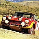 Markku Alen Fiat 124 Abarth 1975 Rallye du Maroc - Rally Car Photo Print