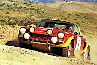 Markku Alen Fiat 124 Abarth 1975 Rallye Du Maroc Rally Car Photo Print
