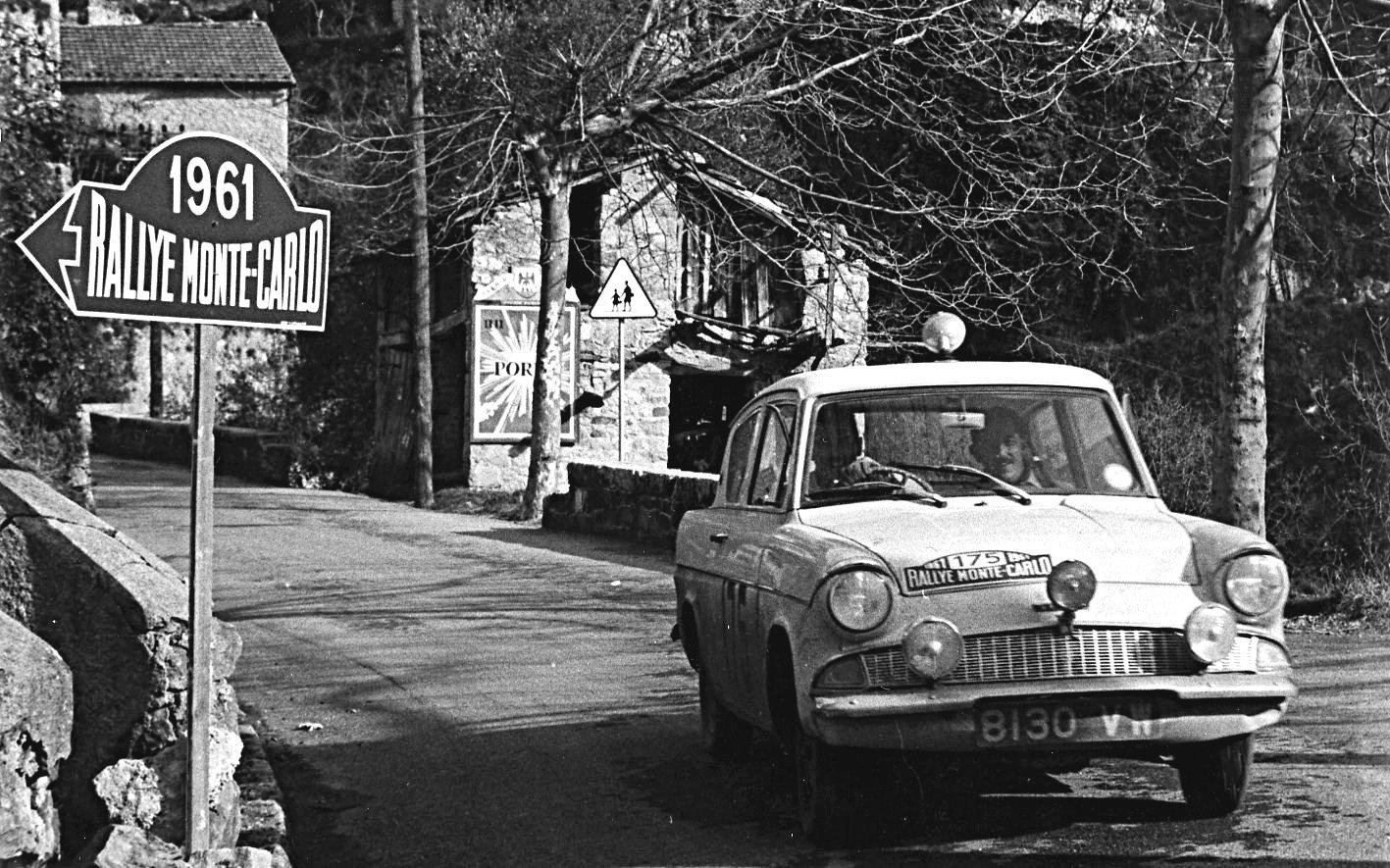Ford Anglia at 1961 Monte-Carlo Rally - Rally Car Photo Print
