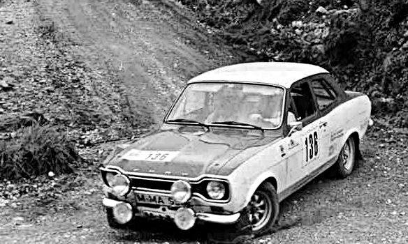 Humpert's Escort 1300 GT at 1974 San Martino Rally - Rally Car Photo Print