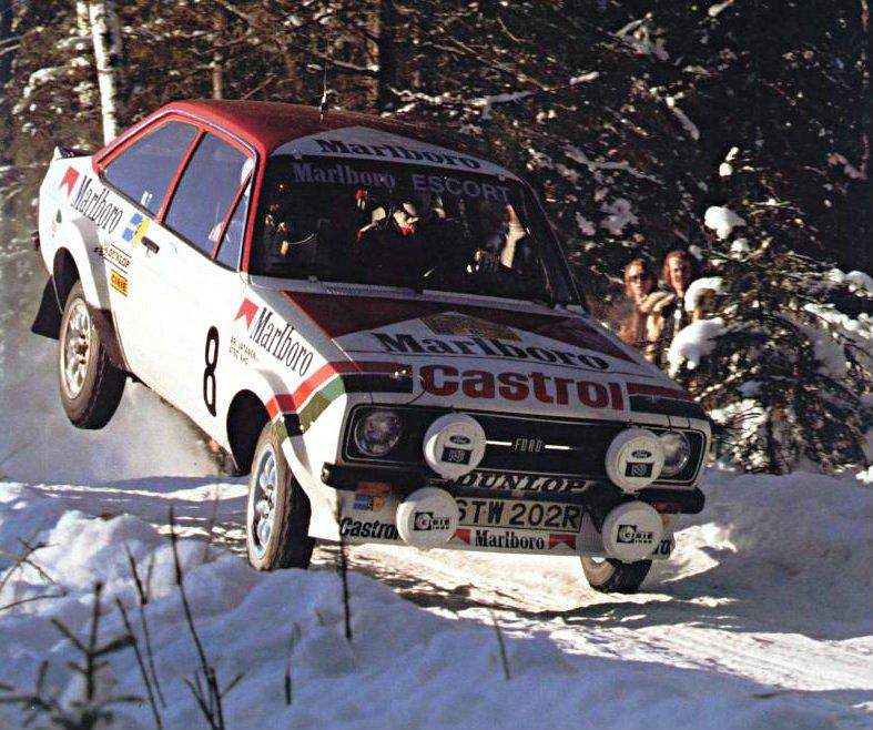 Vatanen-Aho Ford Escort RS MkII 1978 Swedish Rally - Rally Car Photo Print