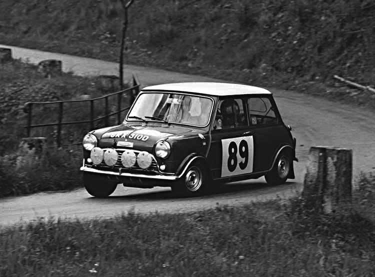 Aaltonen-Liddon Mini Cooper S 1966 Tulip Rally  - Rally Car Photo Print