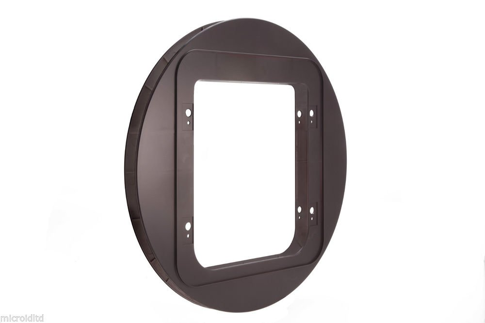 SureFlap Pet Door Mounting Adaptor in Brown and White