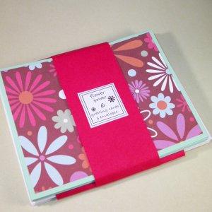 GROOVY ... Flower Power Greeting Card Set of 6