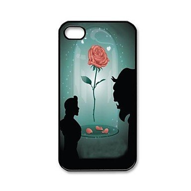Designyourown Case Beauty and Beast  Aluminium Plastic Hard Back Case for iPhone 5/5S