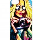 Fashion Sexy Girl Aluminium Plastic Hard Back Case for iPhone 5/5S