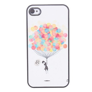 Balloon Pattern Aluminium Plastic Hard Back Cover Case for iPhone 5/5S