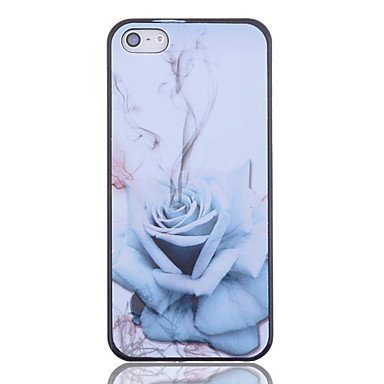 Blue Rose Aluminium Plastic Hard Back Cover Case for iPhone 5/5S