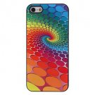 Colorful Round Dots Vorte Aluminium Plastic Hard Back Cover Case for iPhone 5/5S