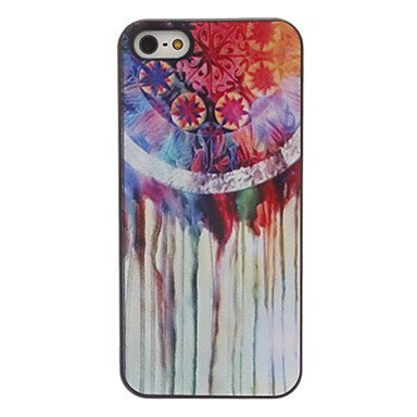 Colorful Snowflake Coloured Drawing Aluminium Plastic Hard Back Cover Case for iPhone 5/5S