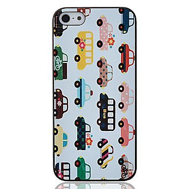 Colorfull Buses Aluminium Plastic Hard Back Cover Case for iPhone 5/5S