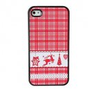 Lovely Style Grid Aluminium Plastic Hard Back Cover Case for iPhone 5/5S