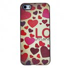 Free Shipping Various Shaped Heart Aluminium Plastic Hard Back Cover Case for iPhone 5/5S
