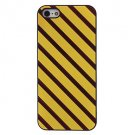 Free Shipping Yellow and Brown Stripes Aluminium Plastic Hard Back Cover Case for iPhone 4/4S