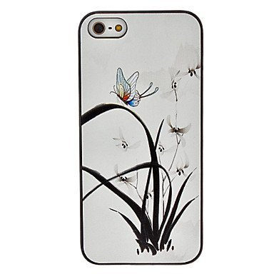 Free Shipping Butterfly Pattern Aluminium Plastic Hard Back Cover Case for iPhone 4/4S