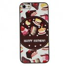 Free Shipping Cake Pattern Aluminium Plastic Hard Back Cover Case for iPhone 4/4S