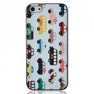 Free Shipping Colorfull Buses Aluminium Plastic Hard Back Cover Case for iPhone 4/4S