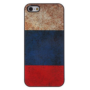 Free Shipping Russian Flag Aluminium Plastic Hard Back Cover Case for iPhone 4/4S