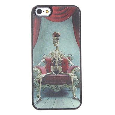 Free Shipping Skeleton King Aluminium Plastic Hard Back Cover Case for iPhone 4/4S