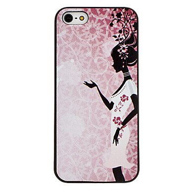 Free Shipping Dancer Pattern Aluminium Plastic Hard Back Cover Case for iPhone 4/4S