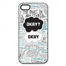 Free Shipping The Fault In Our Stars Aluminium Plastic Hard Back Cover Case for iPhone 4/4S
