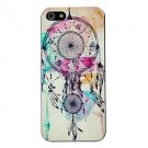 Free Shipping Watercolor Dreamcatcher Aluminium Plastic Hard Back Cover Case for iPhone 4/4S