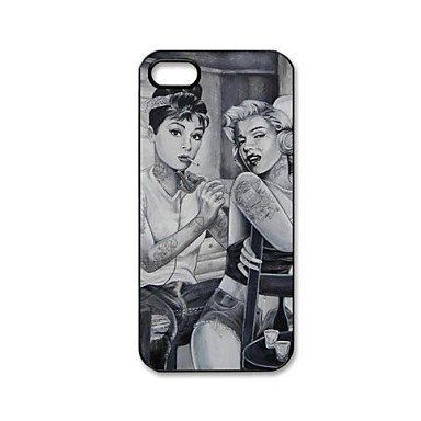 Free Shipping Marilyn Monroe and Audrey Hepburn Hard Back Cover Case for iPhone 4/4S