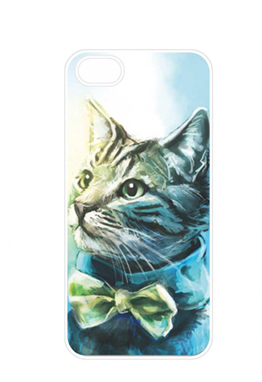 Free Shipping Cute Cat Aluminium Plastic Hard Back Case for iPhone 4/4S