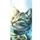 Free Shipping Cute Cat Aluminium Plastic Hard Back Case for iPhone 4/4S