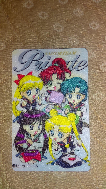 Sailor Moon Textured Plastic Sticker Card F
