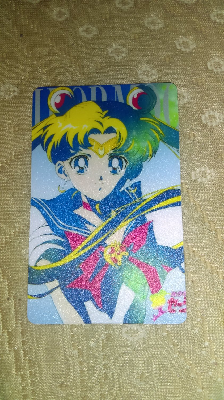 Sailor Moon Textured Plastic Sticker Card H