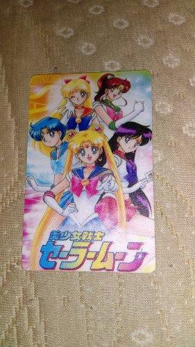 Sailor Moon Textured Plastic Sticker Card A