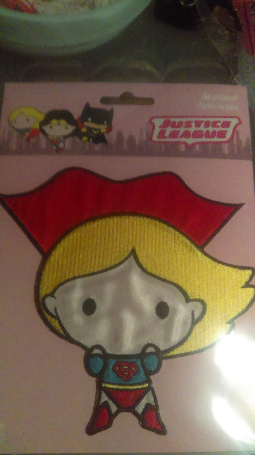 DC Justice League Supergirl Iron On Patch
