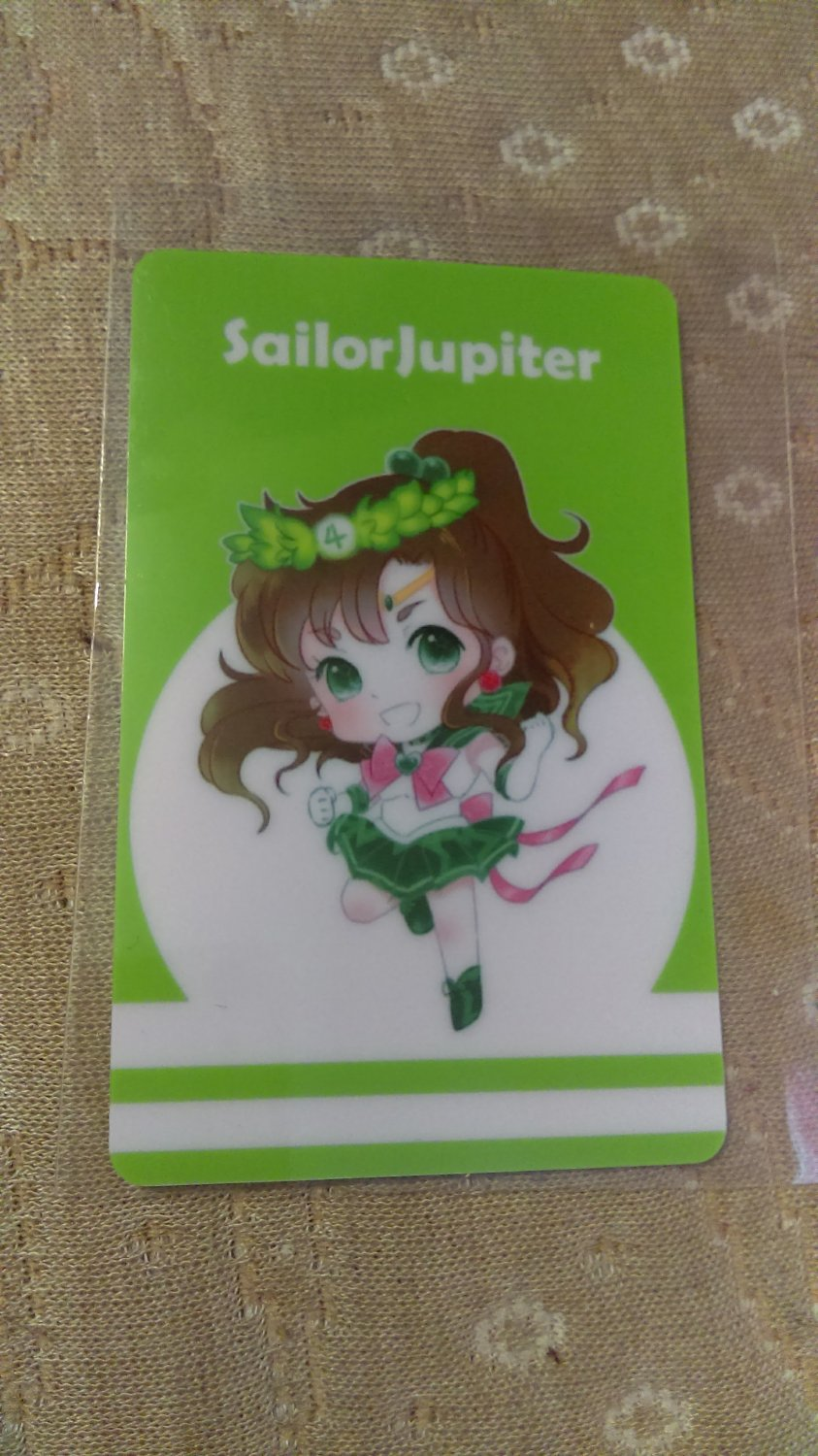 Sailor Moon Glossy Plastic Sticker Card D