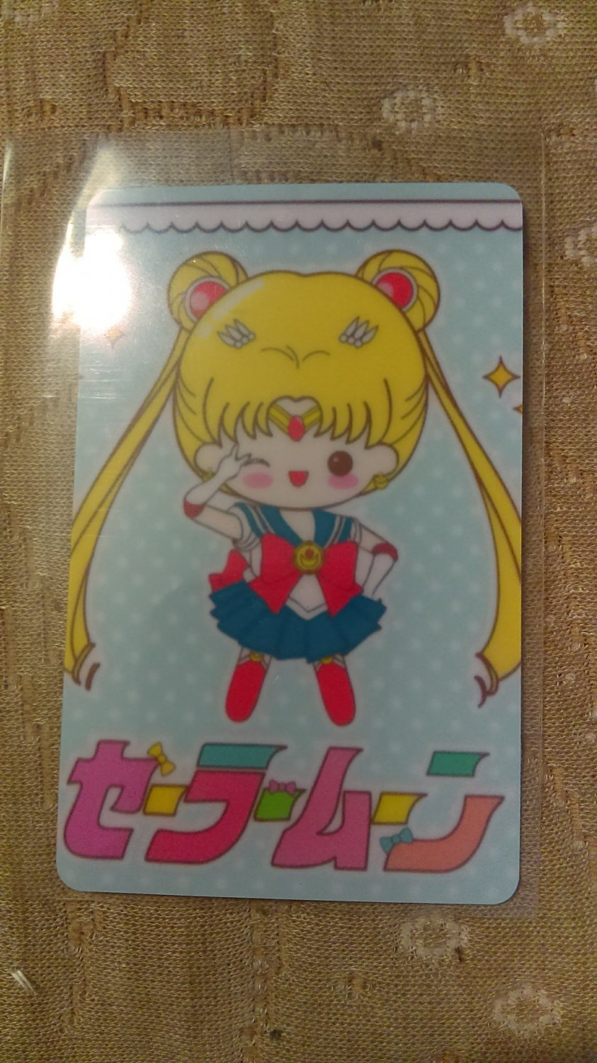 Sailor Moon Glossy Plastic Sticker Card R