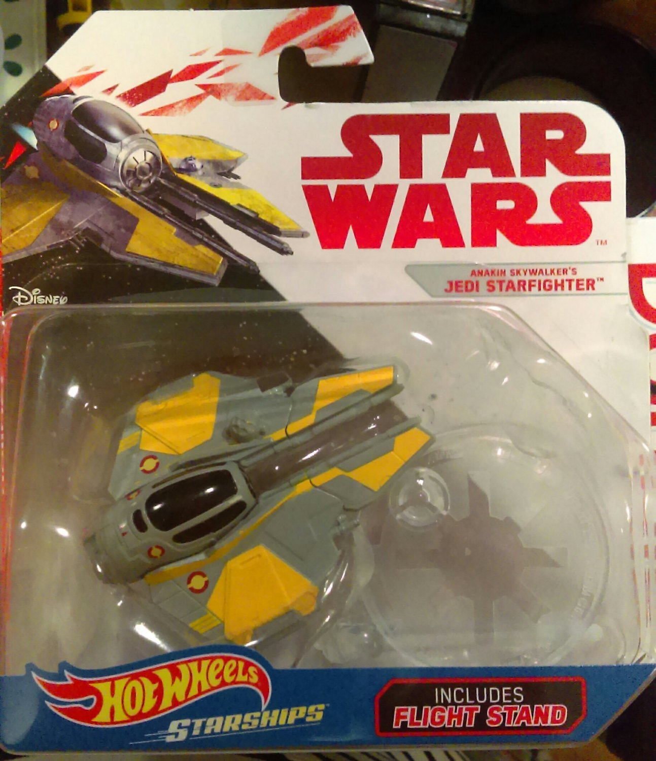 Star Wars Hotwheels Starships- Anakin Skywalker's Jedi Starfighter