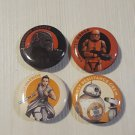 Star Wars Mini Badge Button Pins set of 4