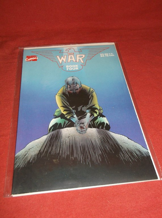 The War book four 1989 (VF+) In Sleeve With A Board Backing Marvel Comic Comics