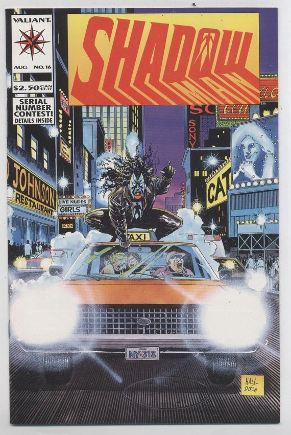 SHADOWMAN #16 Aug 1993 Valiant Comic Book Shadow Man Bite Of The Apple New York