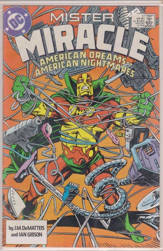 Dc Comics Mister Miracle American Dreams American Nightmares January 1989 #1 Comic Book