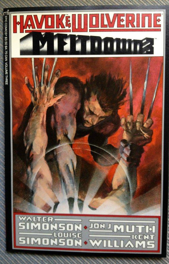 Havok & Wolverine - Meltdown #3 (Jan 1989, Marvel) 3 epic Comic Book Comics