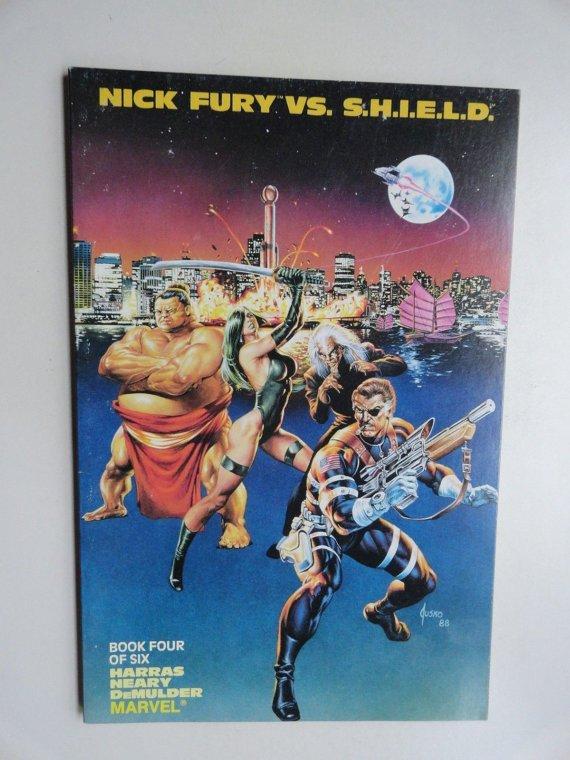 Marvel Nick Fury VS. S.H.I.E.L.D. Comic Book Four Harras Neary Demulder Marvel