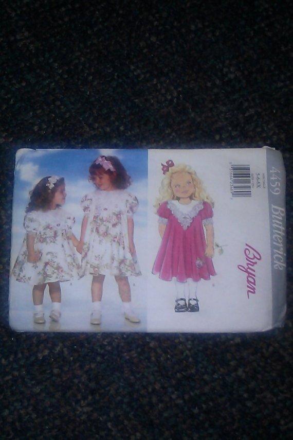 Butterick Bryan Little Girls Dresses Uncut Pattern 4459 Size 5 - 6 - 6x 1996 Dress