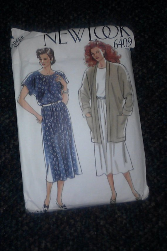 Vintage 6409 New Look Womens Pattern Size Large 18,20, 22, 24, 26 28 Dress & Jacket