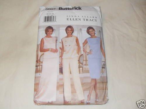 600 Butterick Linda Allard Ellen Tracy PATTERN 20-22-24 Dress