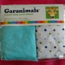 "**Garanimals 2 pack light Blue / dots Yard Sheets 24"" x 38"" 100% cotton"