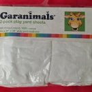 Garanimals set 2 sheets solid white