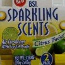 BSI Sparkling Scents Air Freshner Citrus Twist 2Pack