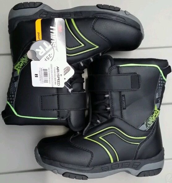 Air speed boys snow boots black Size:2