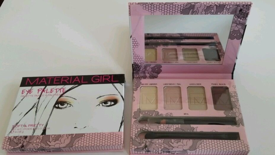 Brand New Material Girl Eye Palette Soft and Pretty Net Wt (Poids Net) 0.32 oz
